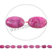 20x30x7mm bright red Flat Oval Natural Crazy Agate Beads