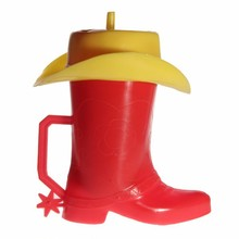 COWBOY BOOT SPURS WESTERN KIDS DRINKING CUPS NEW!!
