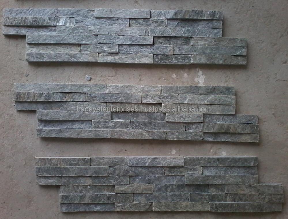 Zilver glans richel stenen muur paneel gevelbekleding tegels leisteen product id 50016952510 - Muur tegel installatie ...