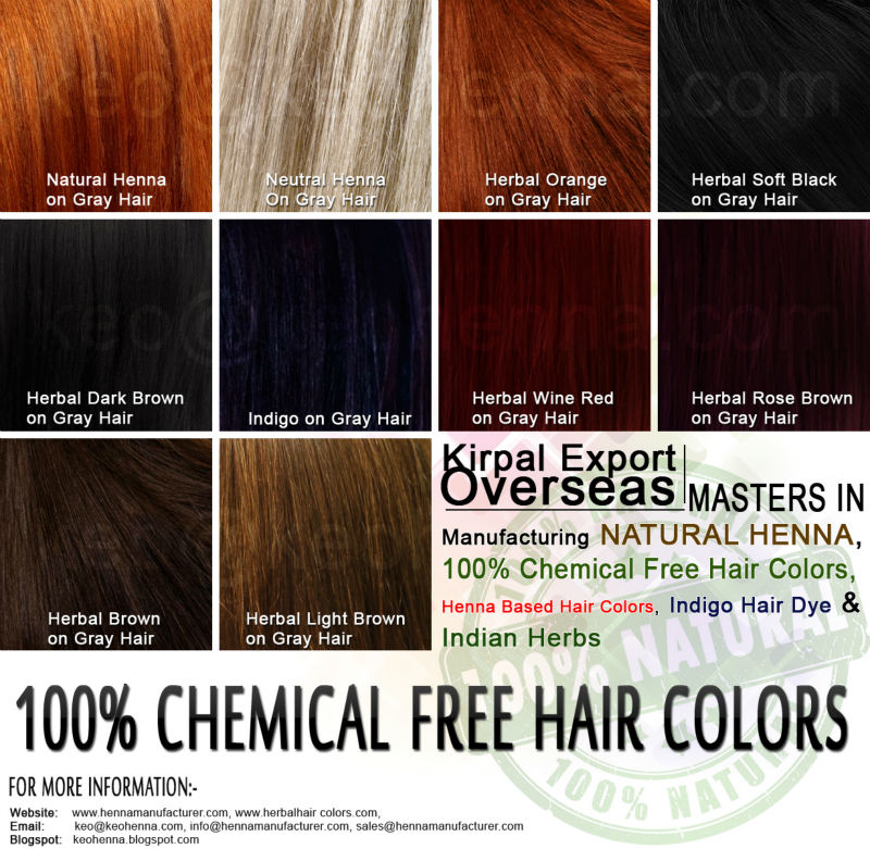 Chemical free hair color products / Nac 500