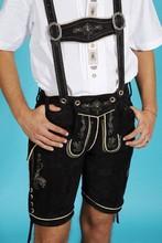 Trachten Oktoberfest lederhosen, kniebund bavarian lederhosen, kurz traditional lederhosen German