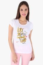 O neck modal white cotton women casual t shirt