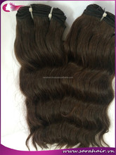 New hair product!!! Machine double weft fashion 100% natural virgin VietNamese straight/ wavy/curly light brown hair