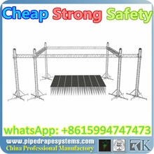 on sale 4 towers indoor expo 6.5x6.5x5m aluminum alloy truss mini truss with tuv and ce certification, head light stage truss