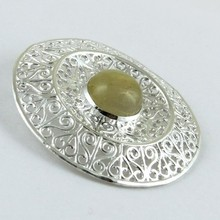 Learning Good Things !! Golden Rutile 925 Sterling Silver Pendant, 925 Sterling Silver Jewelry, Silver Jewelry Wholesale