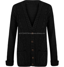 Grandad Cable Knitted Cardigans