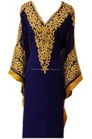 Embroidery evening dress Dubai style party ware jalabiya