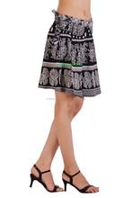 Indian Short Gypsy Bohemian Wrap Skirt Hippie Cotton Midi Knee Wrap Around Skirts