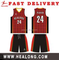 Healong Manufacturer custom digital camo basketball uniforms jersey basketball