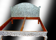 WOODEN MOTHER OF PEARL INLAY BED