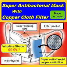 Antibacterial mask with copper cloth filter for Chinese motorcycle exhaust