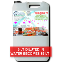 REN O GROUT SC - Detergent with bleach sanitizing toilets, tiles - CONCENTRED AT 6% - SUPERECO
