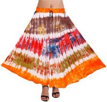 Caliente venta de moda tie dye falda de la señora imagen de largo maxi faldas señora