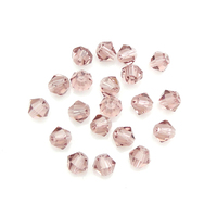 Bicone Crystal Beads faceted Rose 3x4mm Hole:Appr 0.5mm PCs/Bag Sold By Bag