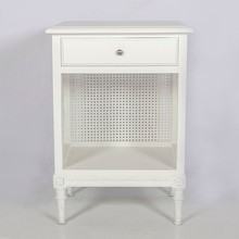 Gustavian bedside table with rattan