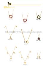 14 K oro macizo otomana mal de ojo suerte Moon Star Necklace