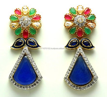 New Designer Wear American Diamond Earring