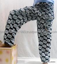 Alibaba Harem Hippie Alladdin Paisley print white & black Unique Pattern Trouser / Harem pants manufacturer from Jaipur