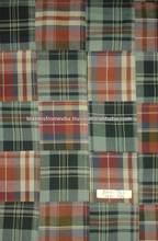100% del cheque del algodón madras tela del remiendo para la exportación de la