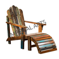 wooden recycled rest chair, reclaimed furniture rest chair