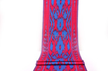 Ikat fabric by the yard Red Blue
