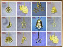 Brass metal golden handmade christmas decoration custom christmas decor latest christmas tree ornament