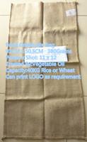 Sugar Rice Wheat Cocoa bean Coffee bean use Food Grade jute bag sacks 91cmX50.5cm 380Grams Vegetable Oil Treatment surface