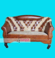 Indian upholstery modern industrial leather sofa living room furniture
