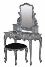 Classical Design Dressing Table And Dresser With Mirror