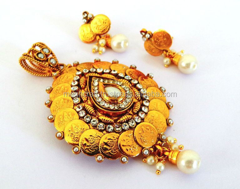 Wholesale indian gold plated pendant set kundan pendant set dsc07761g aloadofball Image collections