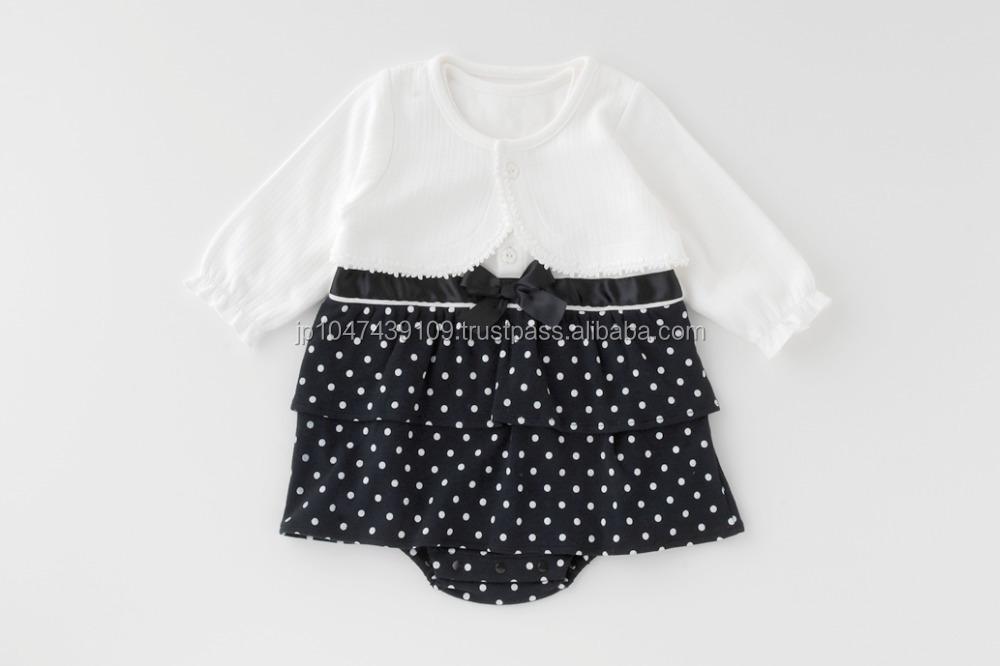Japanese wholesale high quality cute fashion baby girls clothing sets