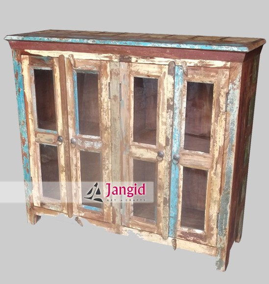 Vintage Rustic Reclaimed Wood Cabinet Sideboard Furniture
