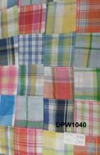stocklot madras cotton patchwork pure custom made fabric