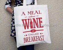wholesale cheap price organic cotton canvas tote bag