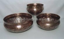 large copper planters set of 3