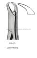 #23, molares inferiores forcep extração, padrão americano/melhor qualidade por taidoc
