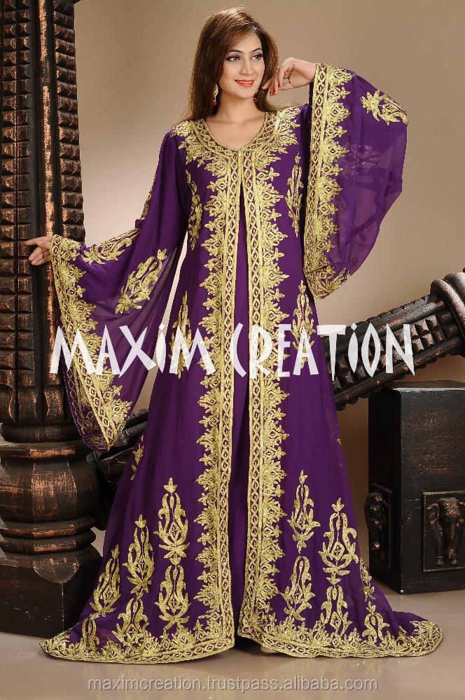 Kaftan Beautiful Dubai Caftan Dress Abaya Jilbab Islamic Kheleeji | Rachael Edwards