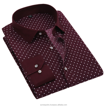 100% cotton custom tailor made mens slim fitting dress business shirt with small follow dots pattern