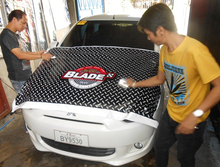 car wrapping sticker, product label sticker