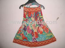 de gasa de girlswear vestido mini larga Jaipur a base de prendas de vestir exportadores para moda infantil, Karni e