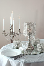 candelabra with flower bowl crystal for wedding and party decoration