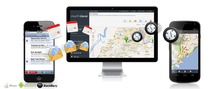 Mobile tracking application for mobile phone