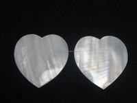 Heart Shape Mother of Pearl Gemstone cabochon Very Pretty stone with Nice polish and Cutting