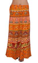 bloque indio larga impresa ropa de playa abrigo falda