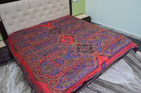 Classic woven paisley bed covers bedspreads in viscose all season