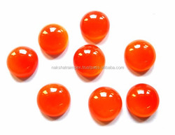 Top Quality Natural Carnelian 15mm Round Cabs Loose Gemstone
