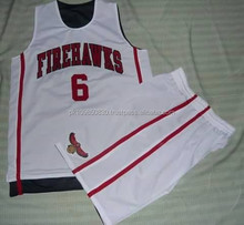 Wholesale blank basketball uniforms custom design