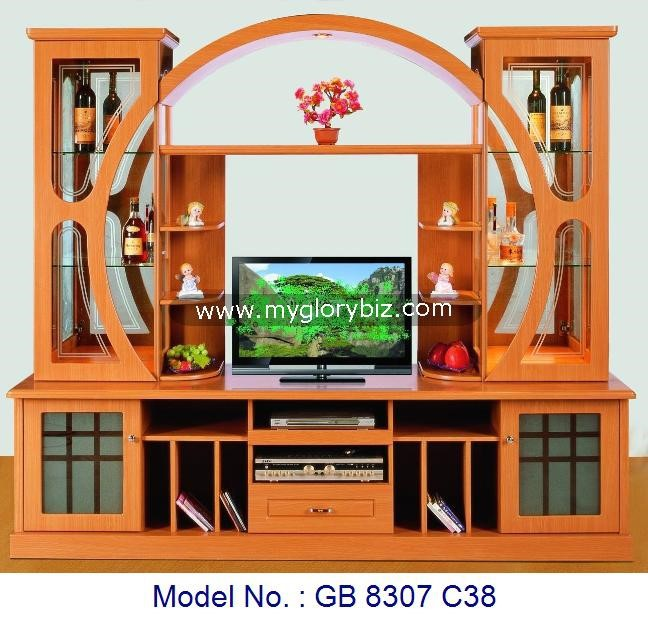 Lcd Tv Stand Designs Wooden : Wall tv cabinet modern stand mdf furniture wooden