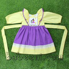 Cute witch and cat hand smocked dress - BB319