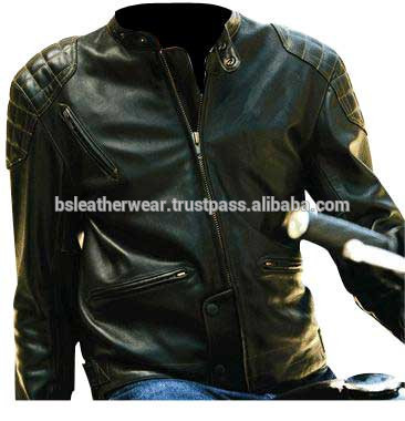 top vintage veste en cuir moto biker moto veste en cuir. Black Bedroom Furniture Sets. Home Design Ideas